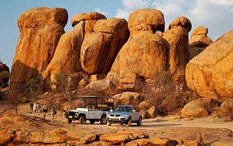 Off-road tour across Namibia